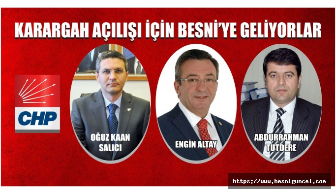 Oğuz Kaan Salıcı, Karargah Açılışı İçin Besni'ye Geliyor